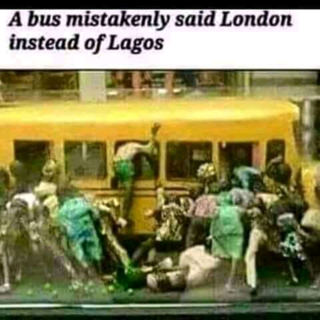 A bus mistakenly said London instead of Lagos #benny entering tru the window😂 The rest yaply members😂 I can see @pheyi & @princecharming clearly 😂