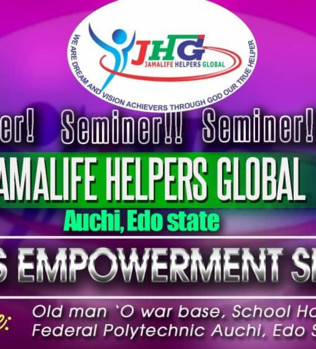 Jamalife for real for life,are you around EDO or it Axis and you wont to know more about this business and get started DM me